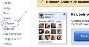 Menampilkan iklan Link Google Adsense di Blog Bahasa Indonesia.